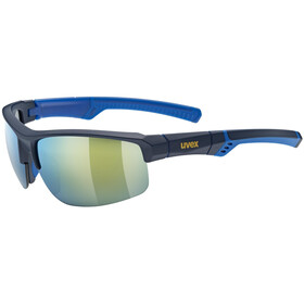UVEX Sportstyle 226 Glasses, blue mat/mirror yellow